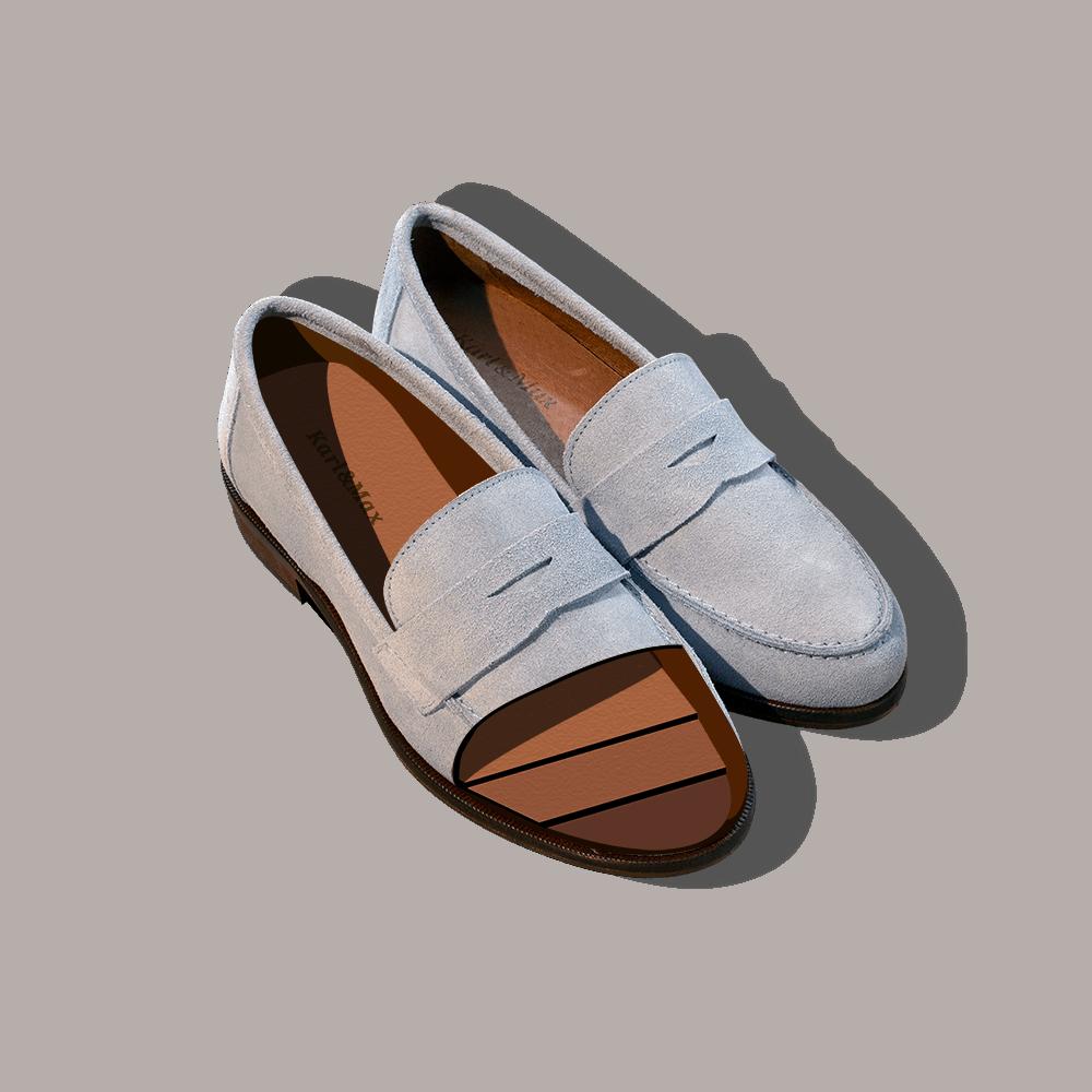 Mocassin confortable pour femme pieds sensibles