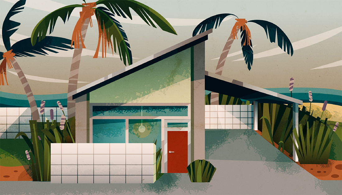 How to Make a Mid-Century House Illustration in Adobe Illustrator