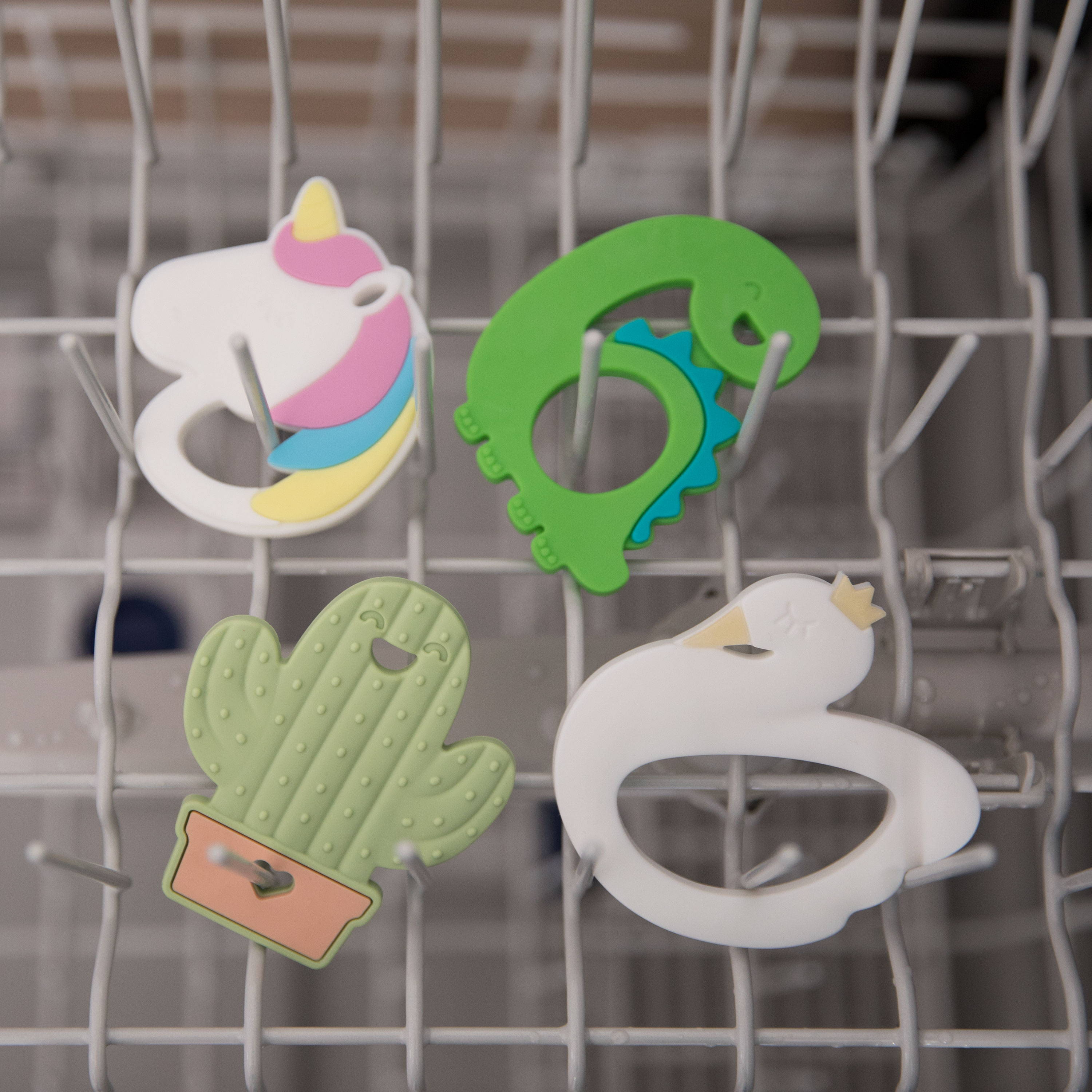 cleaning and sanitizing baby teethers in dishwasher