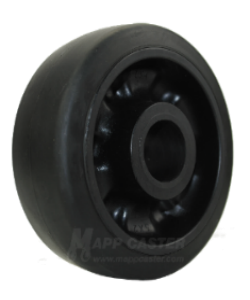 Rubber on Nylon and Rubber on Cast Iron Caster Wheels