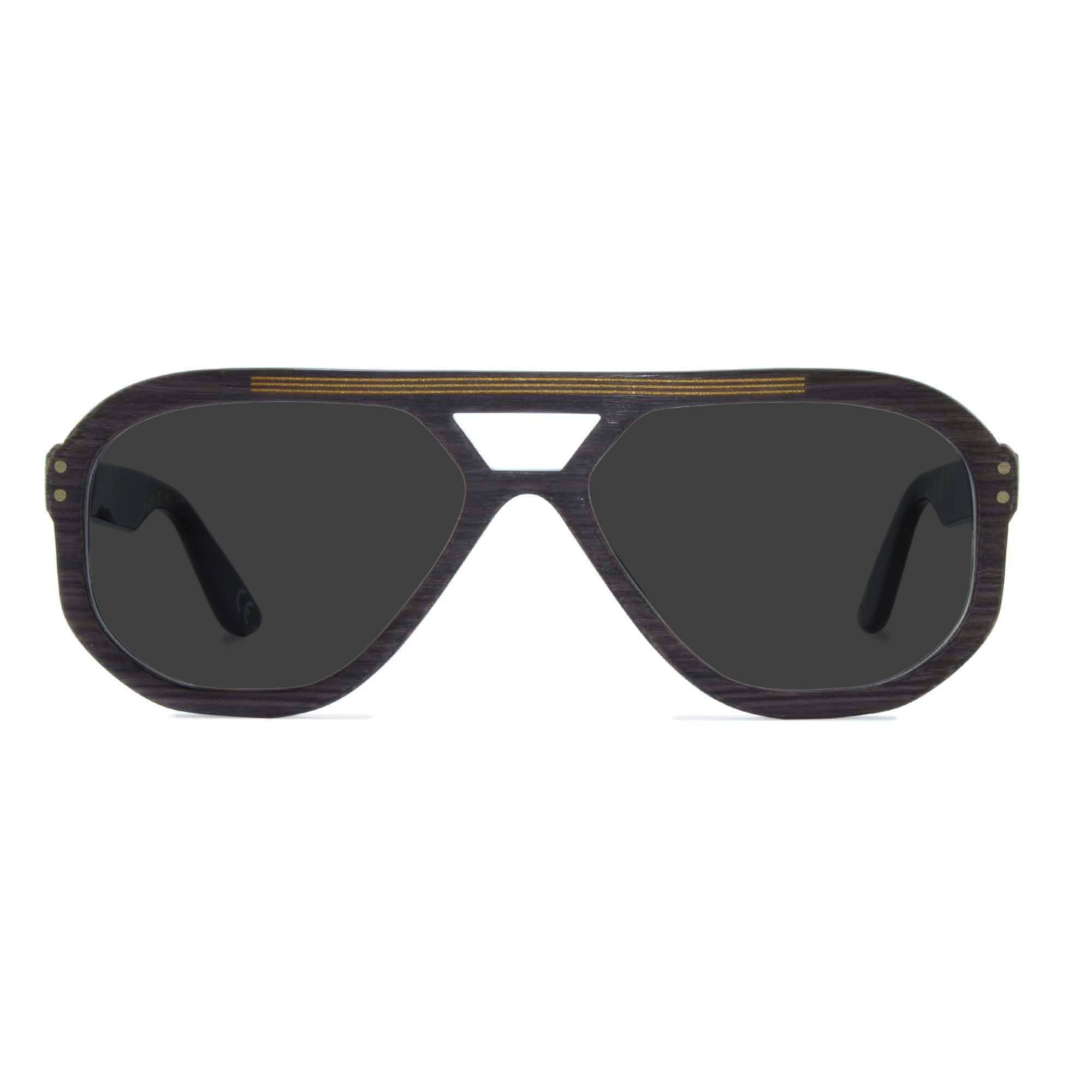 Joiuss jim dark wood navigator sunglasses
