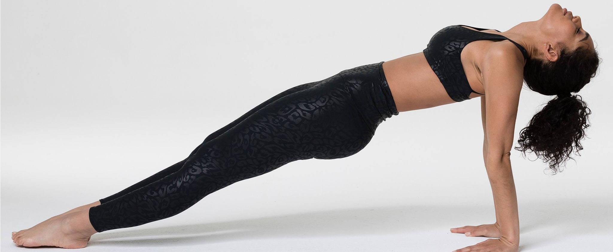 onzie leopard black legging