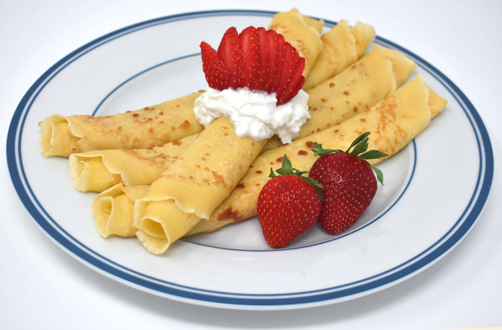 Recipe for Gluten-Free Crepes using Bosquet Gluten-Free Buttermilk Pancake and Waffle Mix