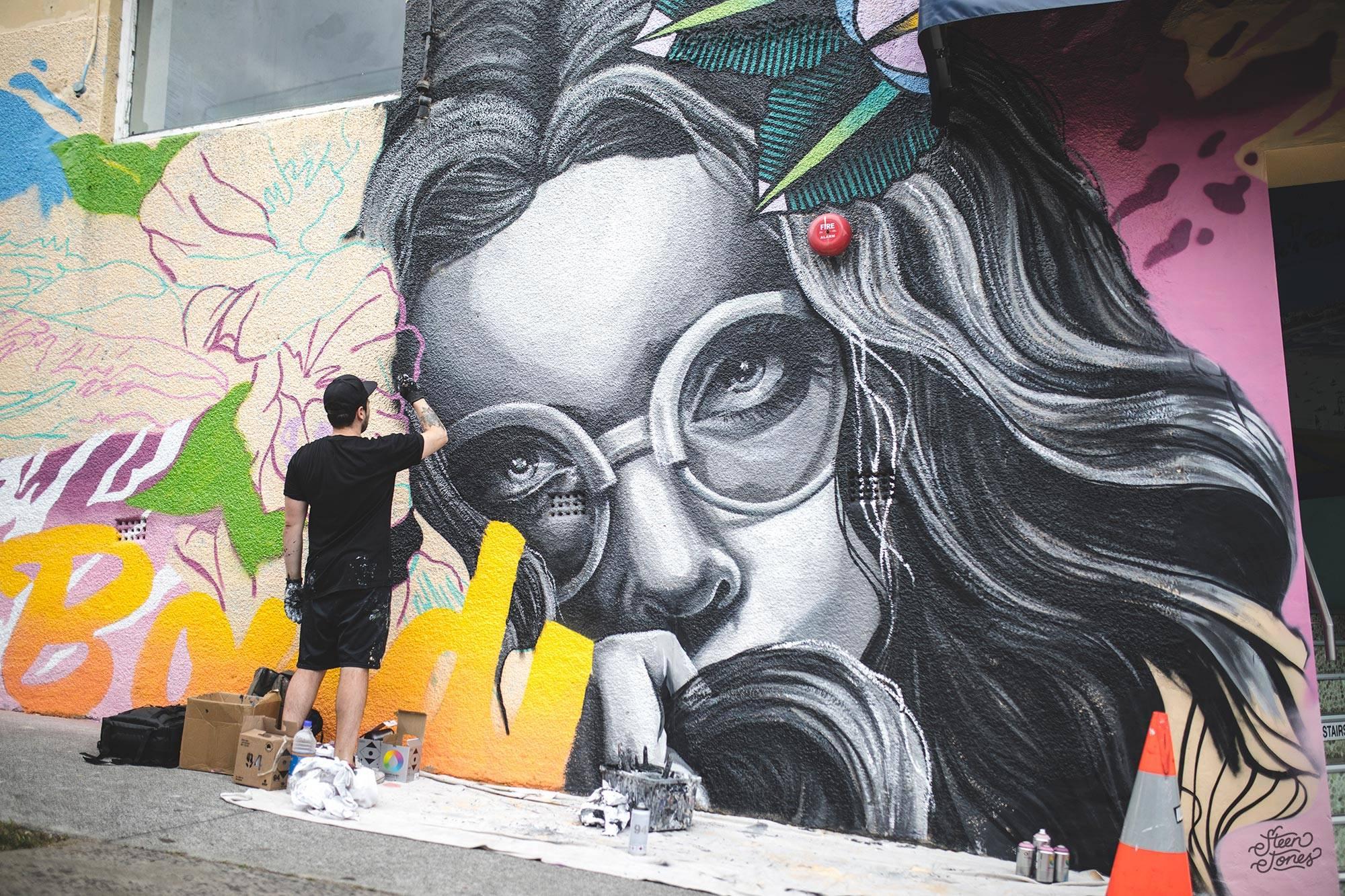 Steen Jones tattoo street artist Australia Authority Creative Alex Lehours Noahs Backpackers Hi from Bondi