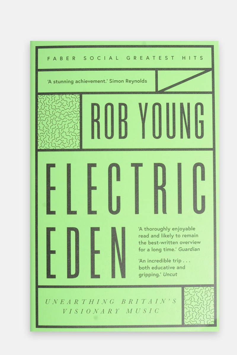 Product photography of the book 'Electric Eden' by Rob Young
