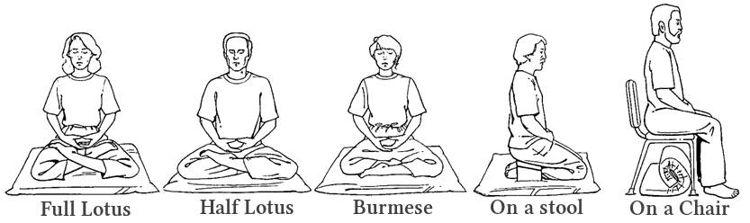 seated meditation postures
