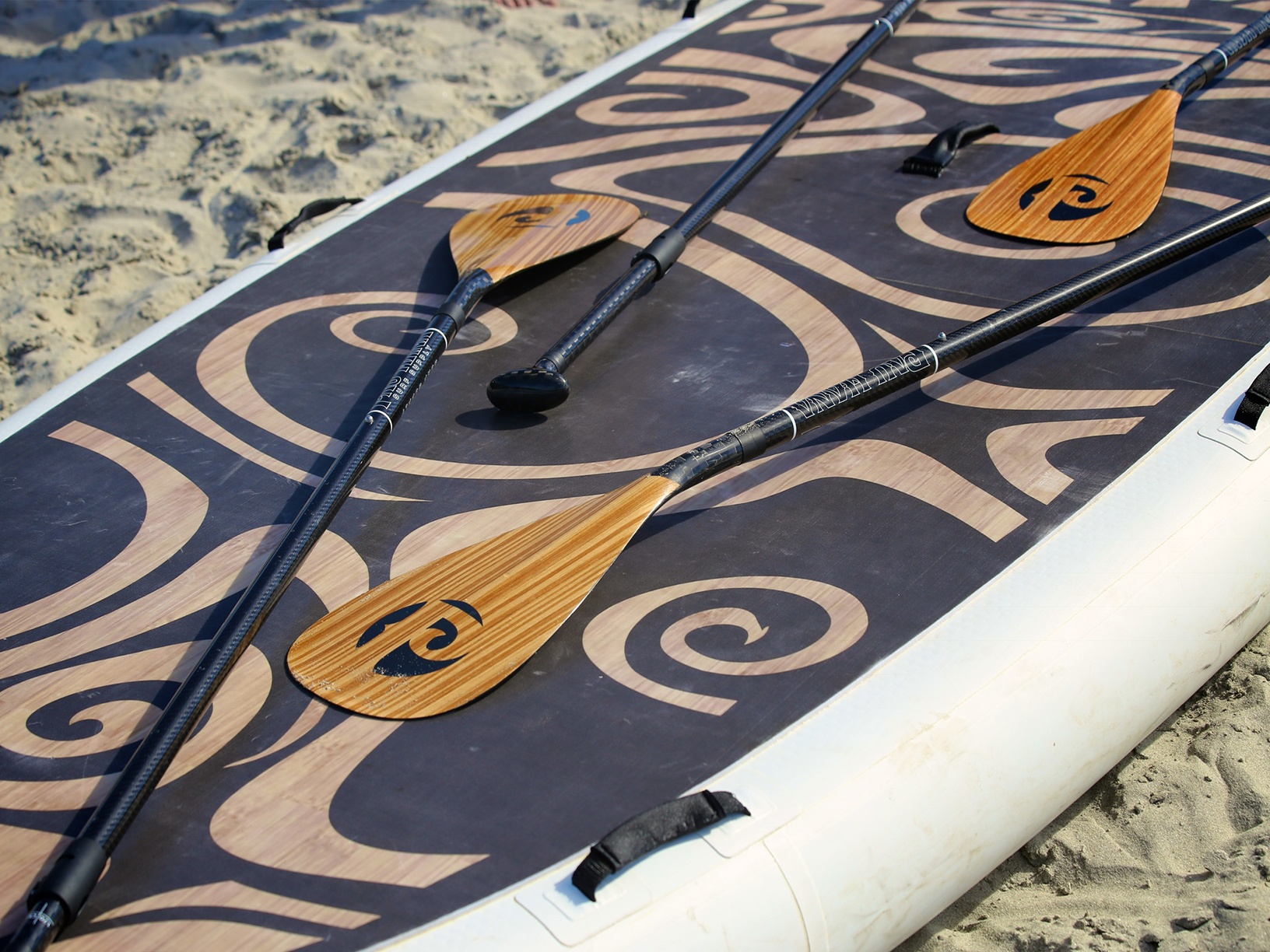 Close up of the Oahu nui inflatable giant sup