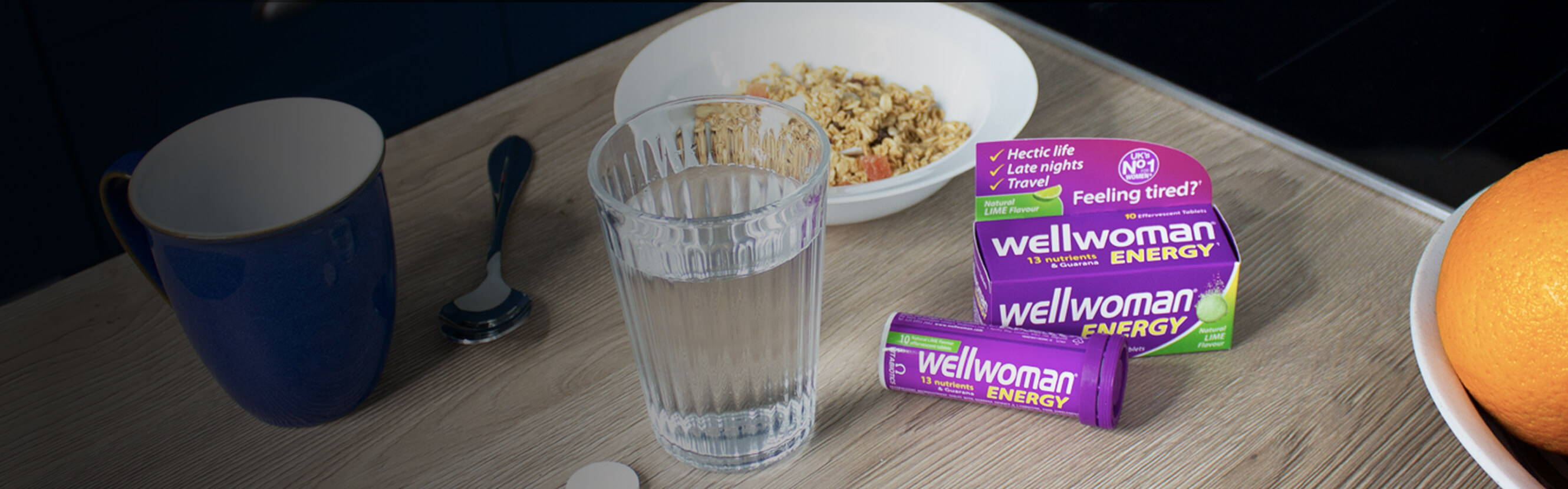 Wellwoman Energy Next To A Breakfast