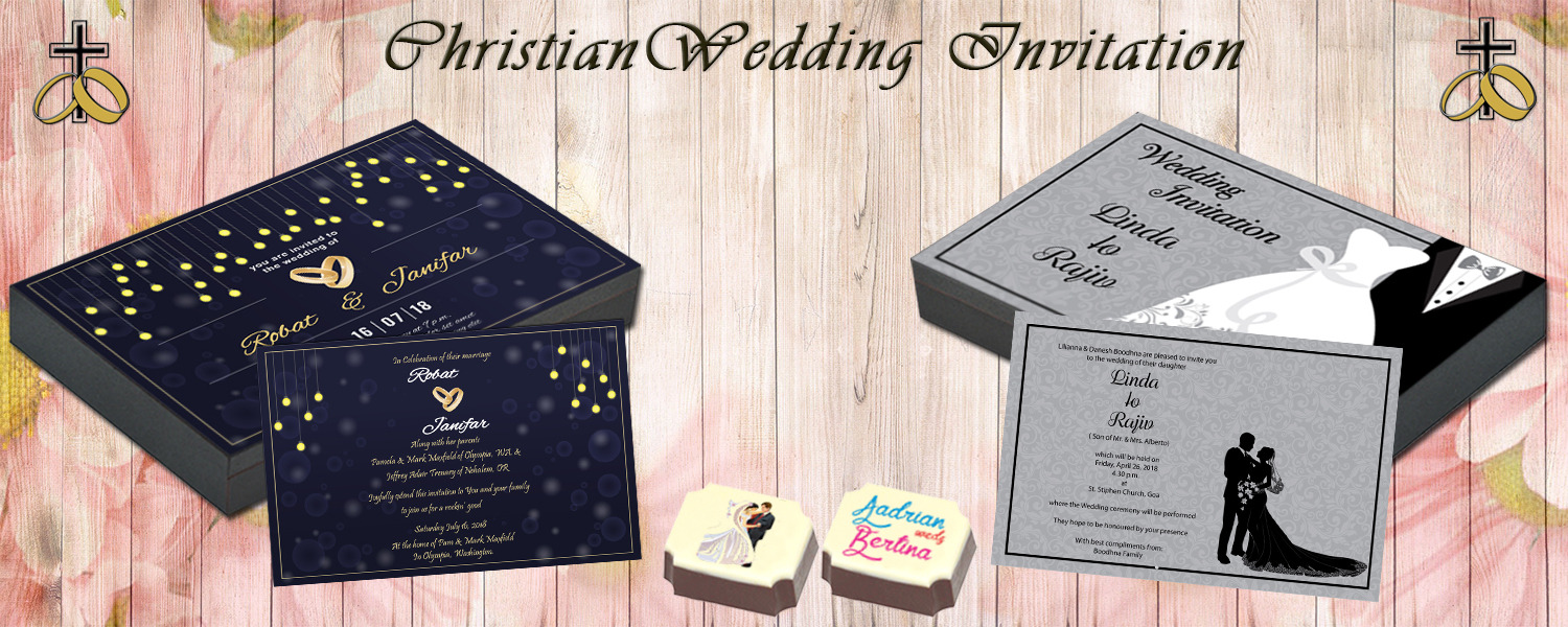 Christian Wedding Invitation Chococraft
