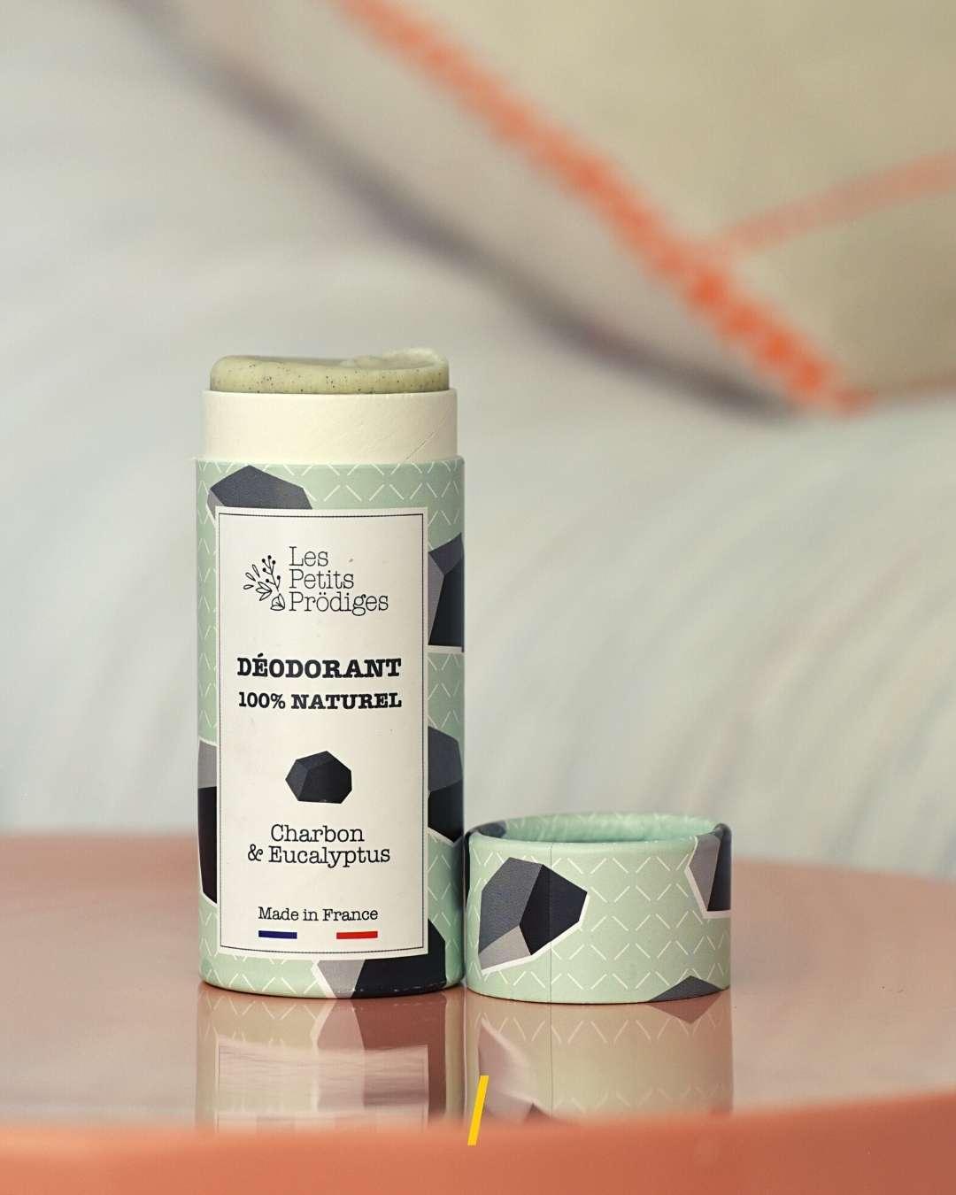 Deodorant naturel solide - Charbon - Les petits prodiges