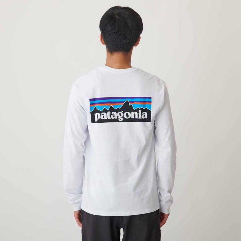 patagonia(パタゴニア)/ロングスリーブ P-6ロゴ レスポンシビリティー/ホワイト/MENS