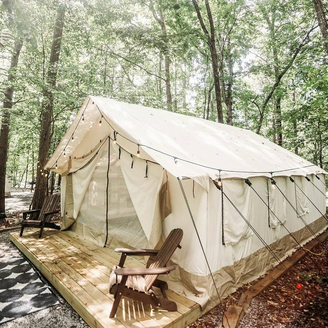 canvas glamping tent wall tent outdoors glamping camping usa