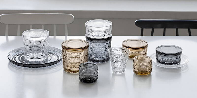 Drinkware for your modern dining room.