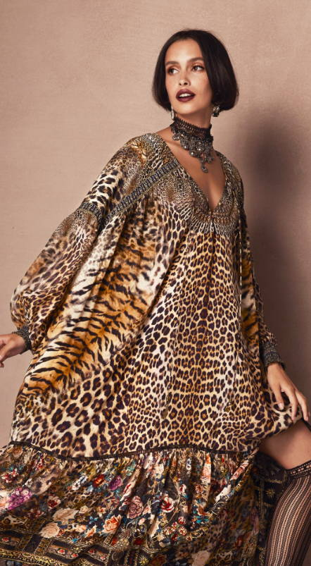 camilla leopard print dress