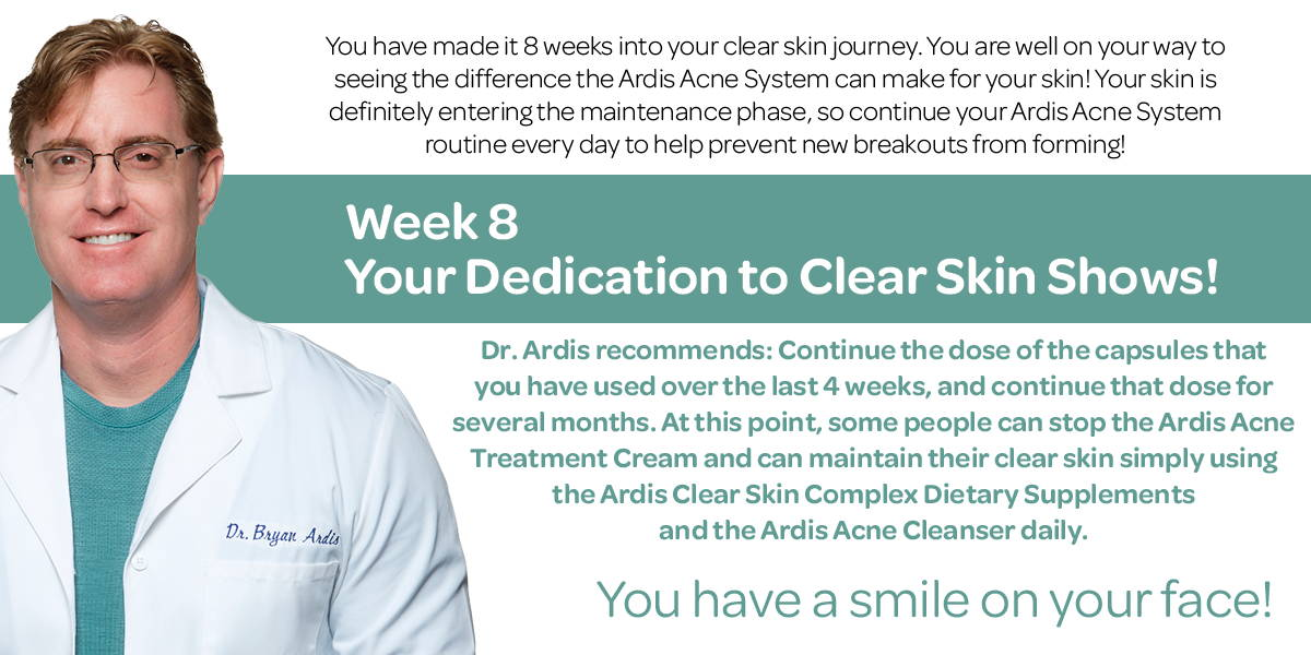 The 8 week journey, when used as directed will give you the results you are seeking.