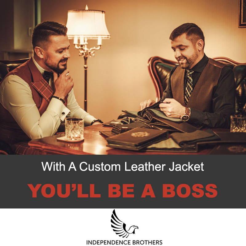 A custom leather jacket