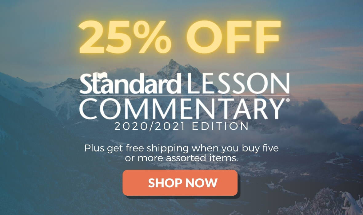 Sale on Standard Lesson commentary 25% off