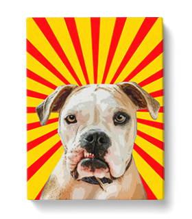 dog pop art canvas