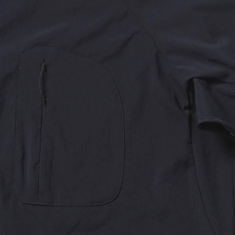 andwander(アンドワンダー)/フリースベースロングスリーブシャツ/ネイビー/UNISEX