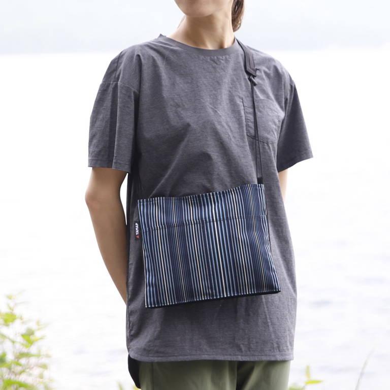 YAMAP(ヤマップ)/小倉織サコッシュ 藍輪舞/ブルー/UNISEX