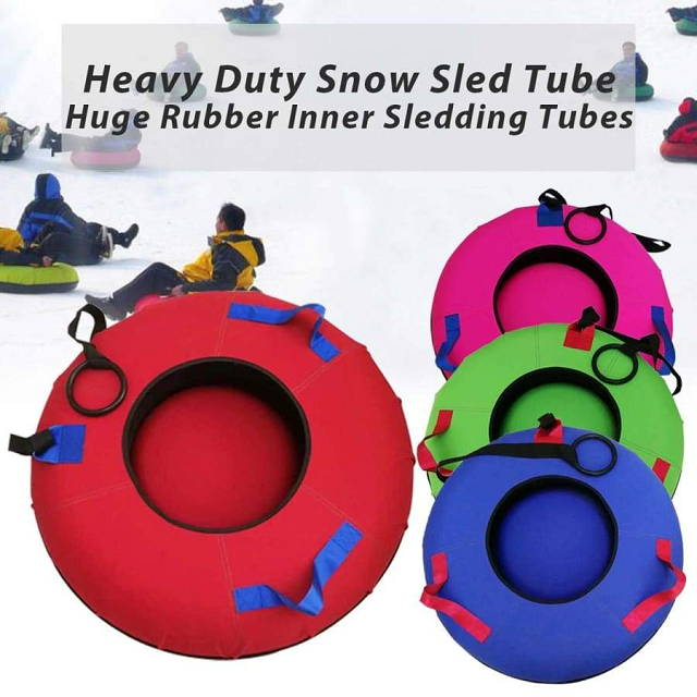 Heavy Duty Snow Sled Outdoor Inflatable Tube