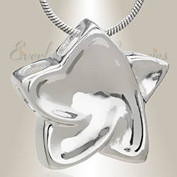 Silver Joyous Star Cremation Memorial Jewelry
