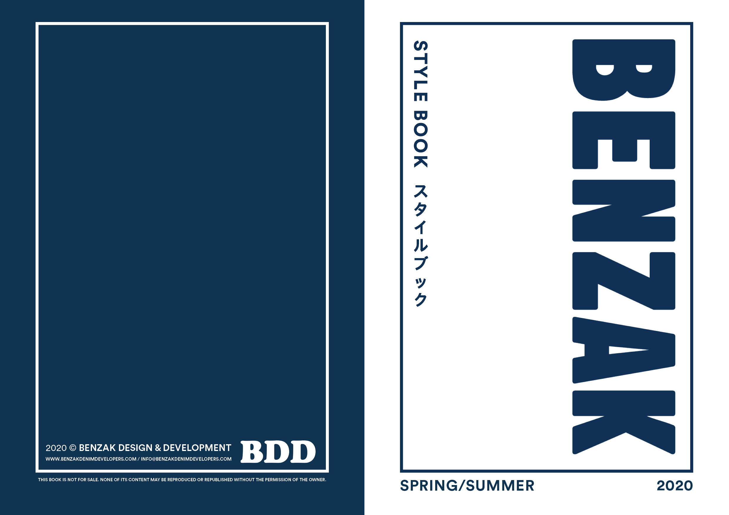 benzak denim developers SS20 stylebook, spring summer 2020 collection lookbook