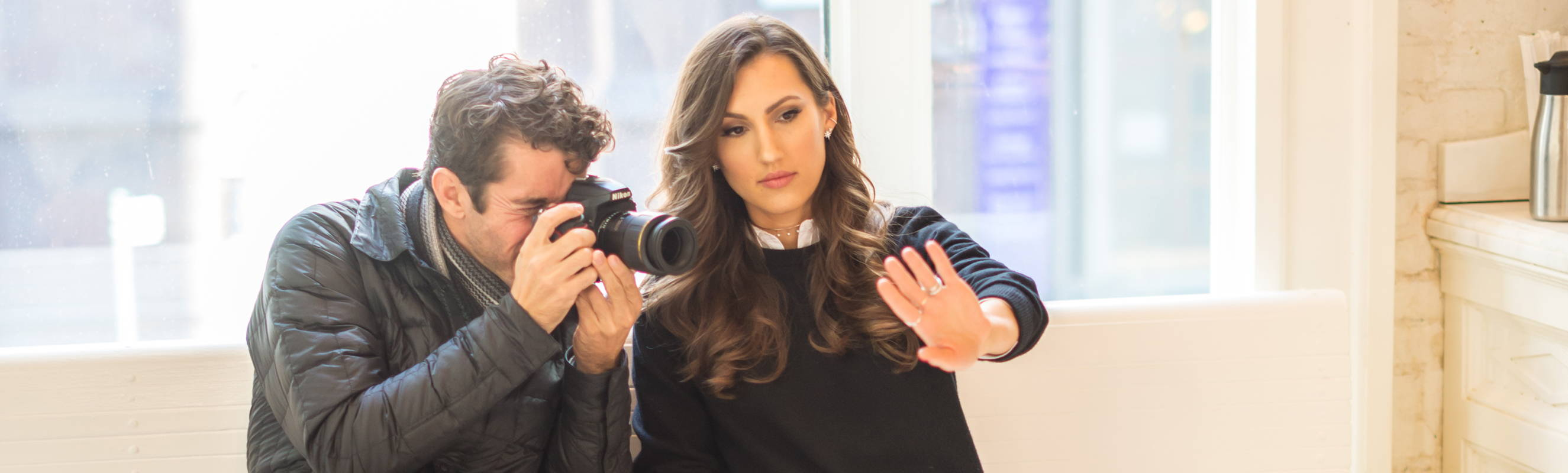 Nicole Wegman, Founder & CEO posing for a hand selfie