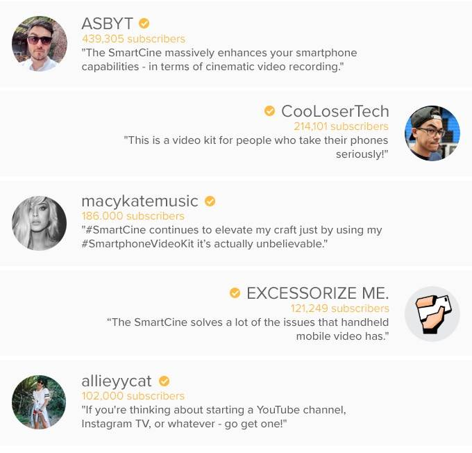 SmartCine Reviewer Quotes