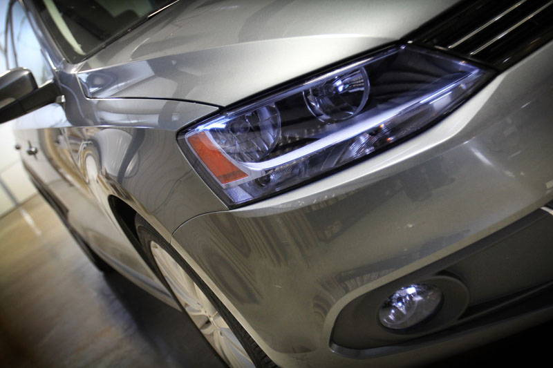Honda Accord with Blue Lamin-x headlight film covers
