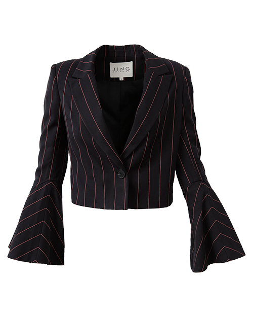 Black Striped Blazer | Holiday Gift Guide | J.ING
