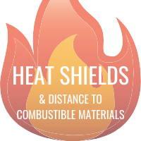 heat shields wood stoves