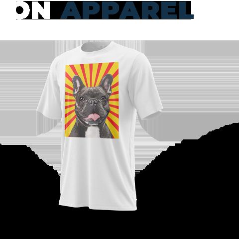 french bulldog art on apparel