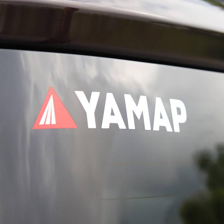 YAMAP(ヤマップ)/オリジナルカッティングステッカー(大)/ホワイト