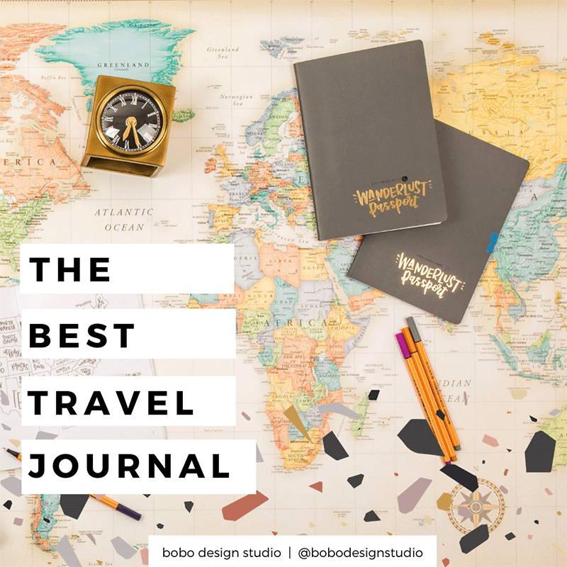 The best travel journal main image featuring the Wanderlust Passport
