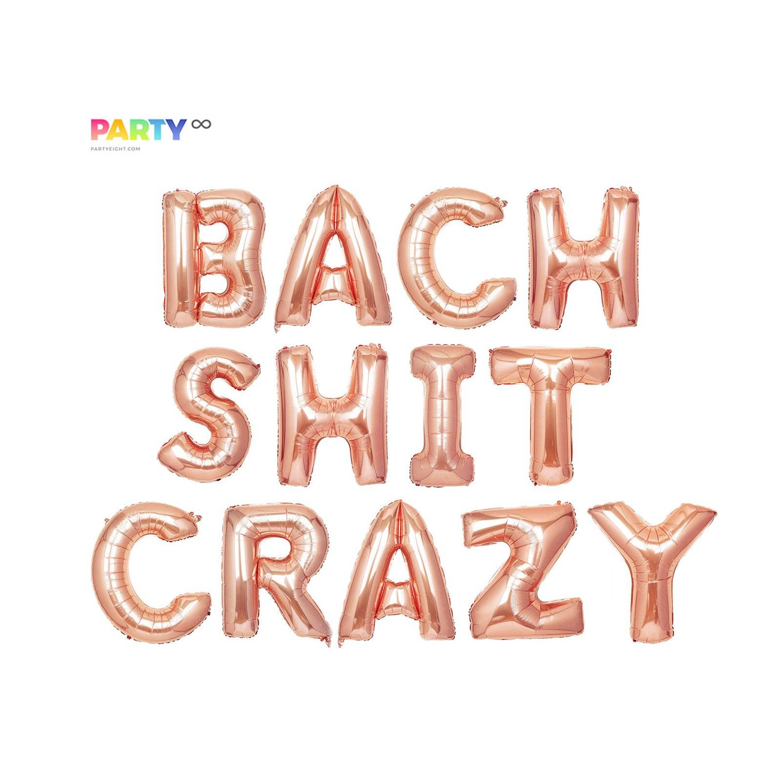 Bach Shit Crazy Bachelorette Party Decor Balloon Banner | Bachelorette Party Decorations | Bachelorette Party Banner/Sign