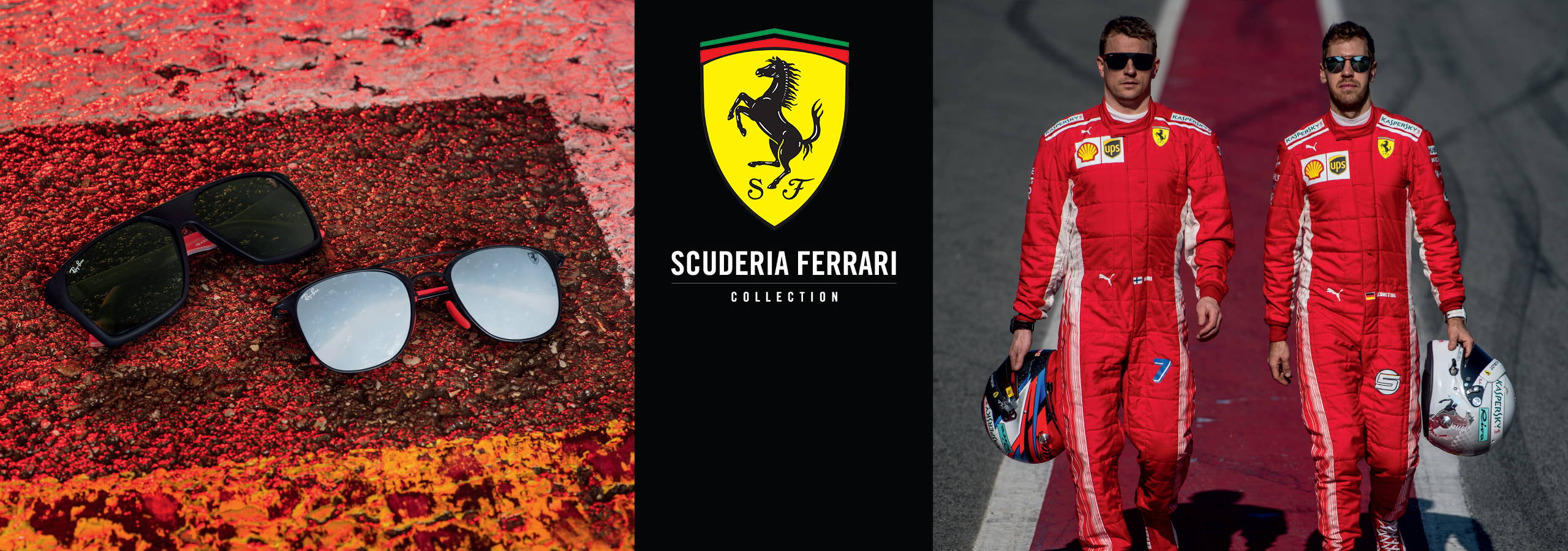 8ecd7d2956 The Ray-Ban Scuderia Ferrari Collection feature unmistakable iconic accents  and a shared passion for tradition and innovation.
