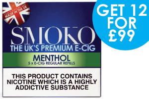 grandes ofertas de recargas de cigarrillos electrónicos con sabor a mentol