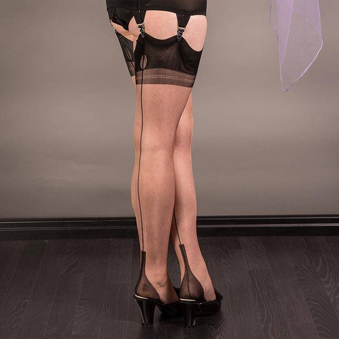 Full Contrast Fully Fashioned Stockings