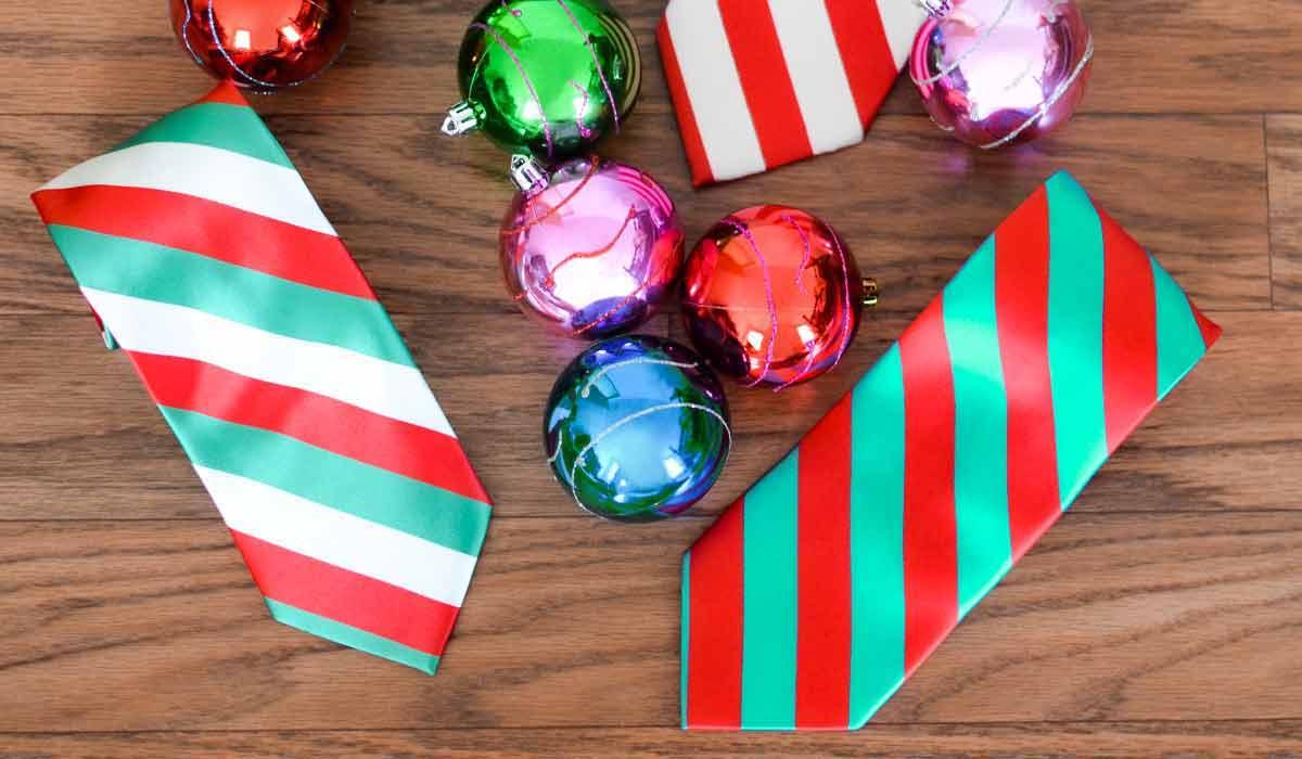 Christmas striped ties