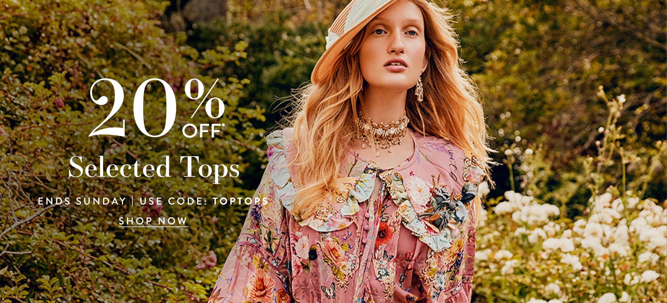 20% Off Selected Tops  | Use Code: TOPTOPS