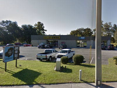 Black Cloud Tactical store front and parking lot