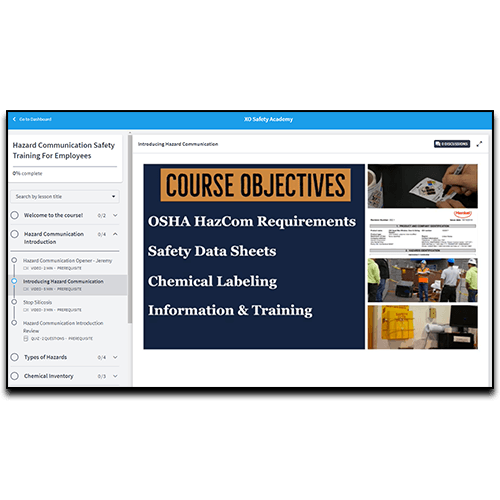 Online Hazard Communication Course Preview