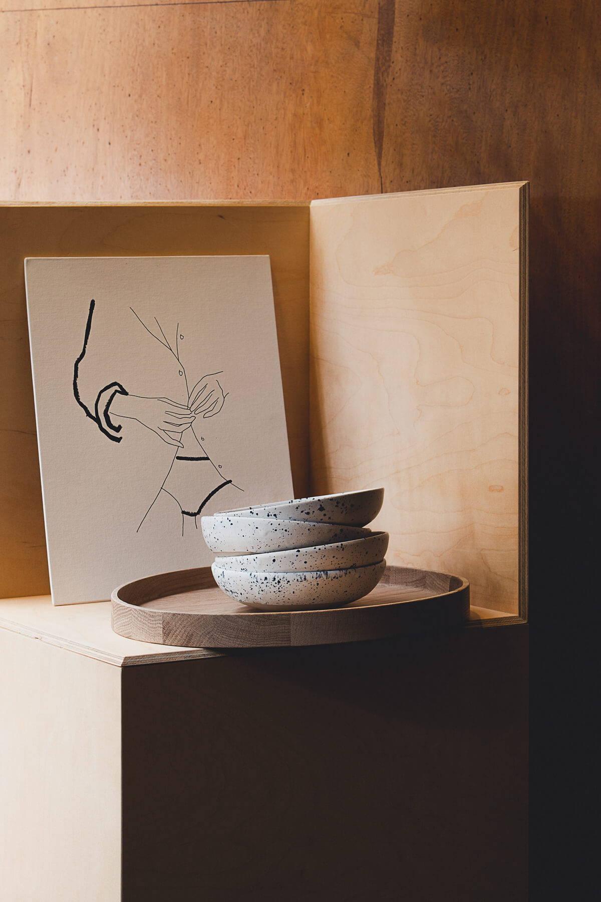 Sellerie-Stilllife mit Fine Art Print von Andrea Kollar