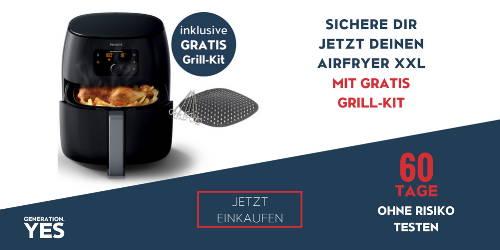 Airfryer XXL mit gratis Grill-Kit