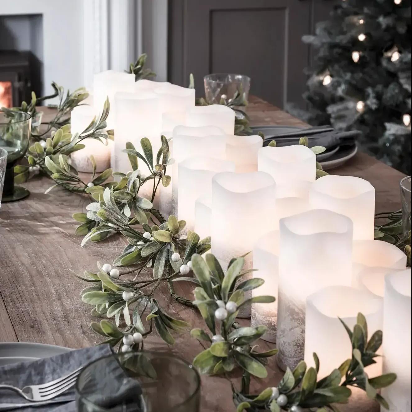 Bougies de Noel sur Table