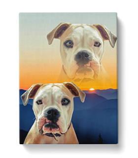 Super Imposed Dog canvas art
