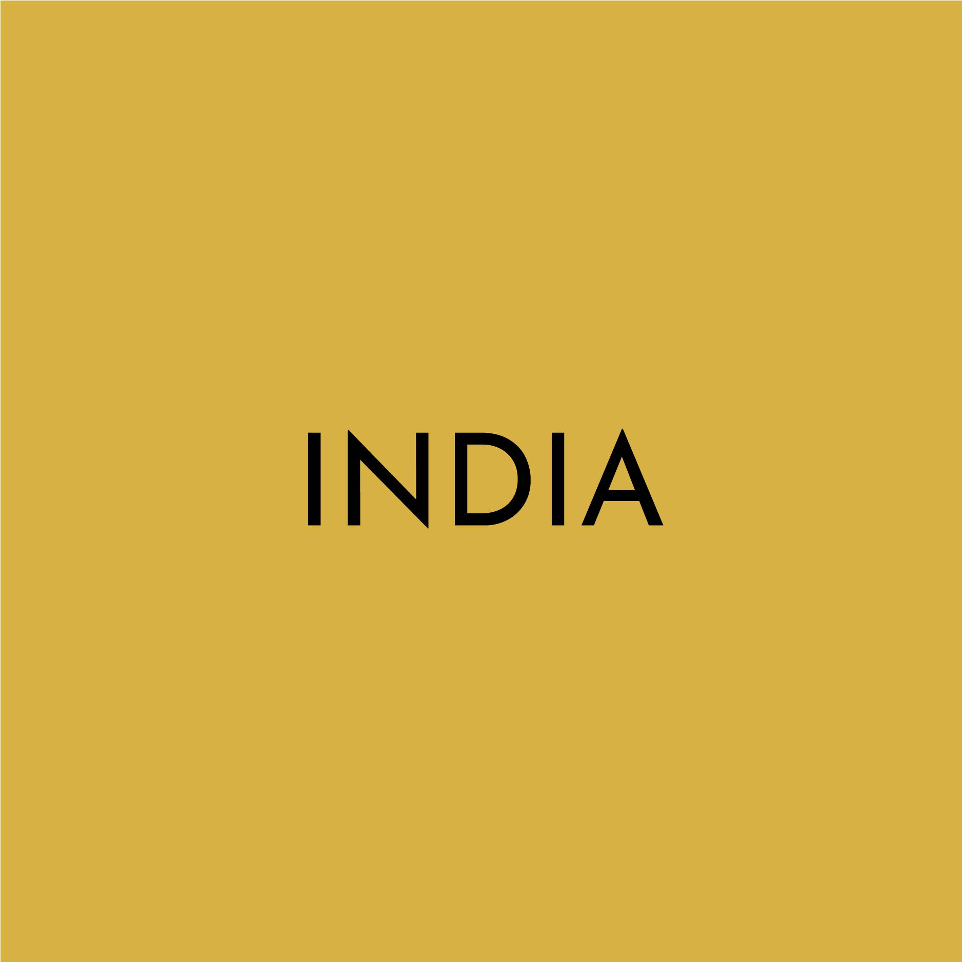 "A solid yellow block contains the text ""INDIA"""