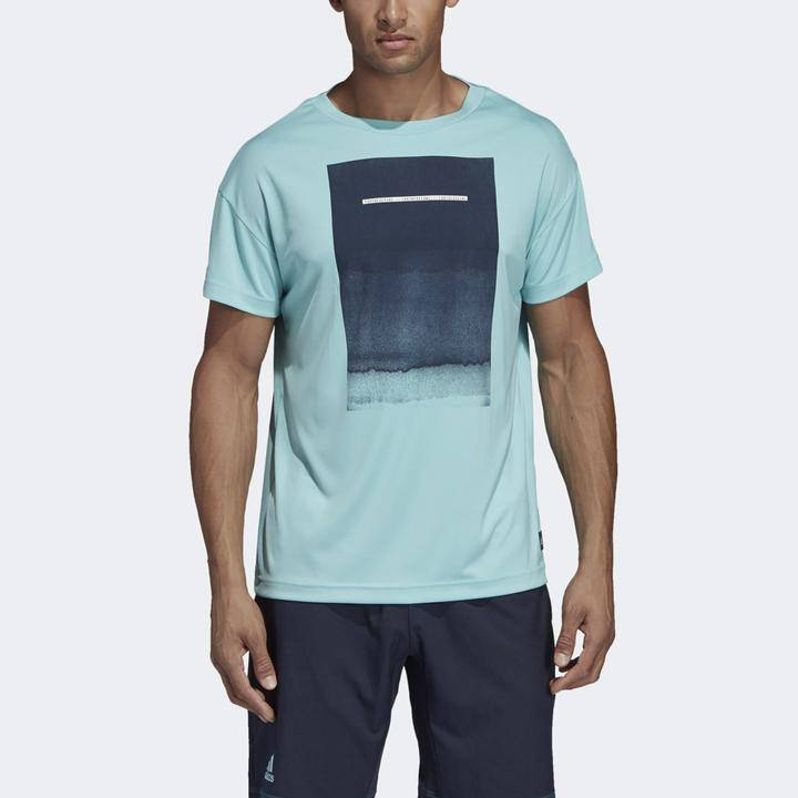 adidas Parley graphic tee men's