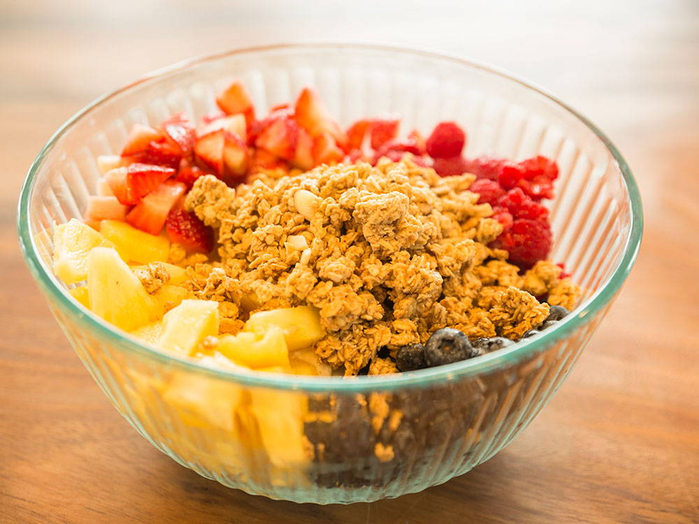 fruit and granola bowl